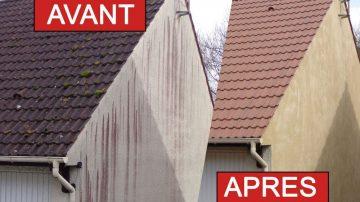 Démoussage de façades et toitures